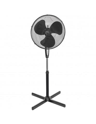 bestron Ventilateur sur pied 45cm 45w noir avec télécommande bestron
