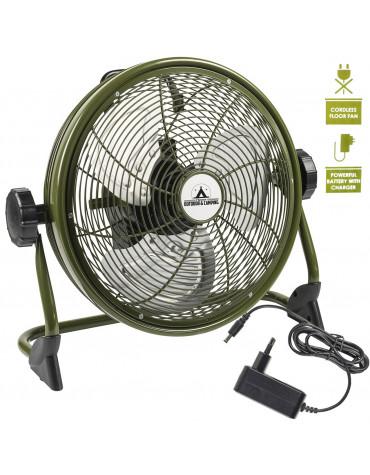 bestron brasseur d'air rechargeable 35cm 25w vert aod12accu