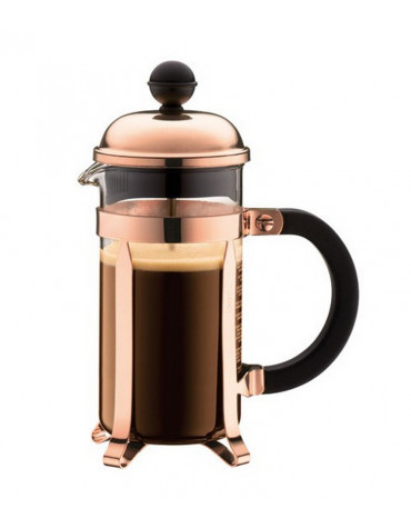 Cafetière à piston 3 tasses 0.35l cuivre