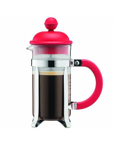 Cafetière à piston 3 tasses 0,35l rouge