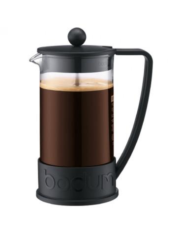 Cafetière à piston 8 tasses 1l noir
