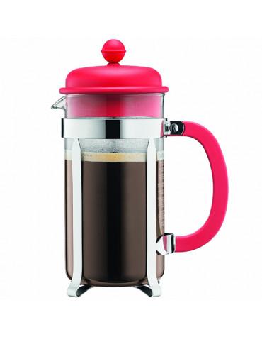 Cafetière à piston 8 tasses 1l rouge