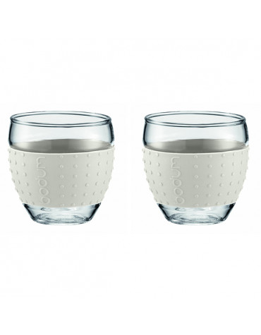 Set de 2 tasses à café 10cl blanc