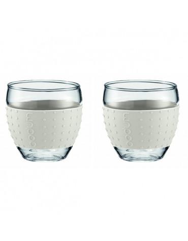 bodum Set de 2 tasses à café 10cl blanc bodum