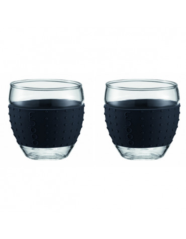 Set de 2 tasses à café 10cl noir