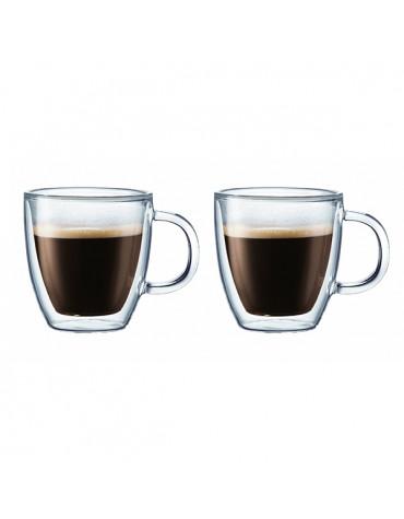 Set de 2 tasses à espresso double paroi 15cl