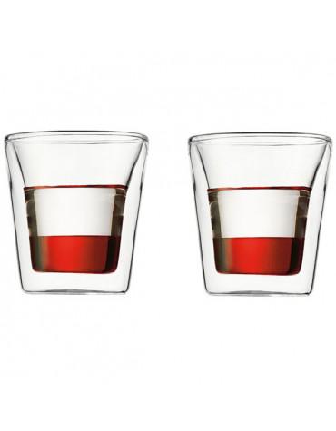 bodum Set de 2 verres double paroi 10cl bodum