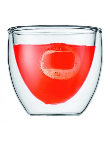 bodum Set de 2 verres double paroi 8cl bodum