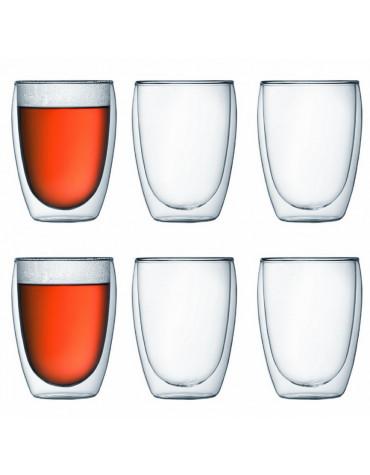 bodum Set de 6 verres double paroi 35cl bodum