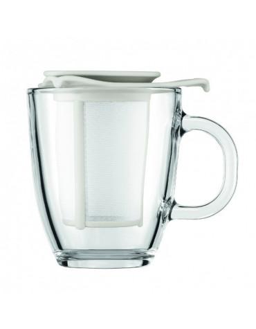 bodum Set mug en verre 0.35l et son filtre en nylon blanc bodum