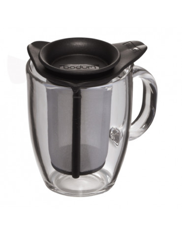 Set mug en verre et son filtre en nylon