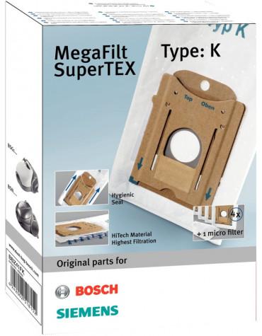 bosch Lot de 4 sacs + 1 microfiltre pour aspirateur bosch