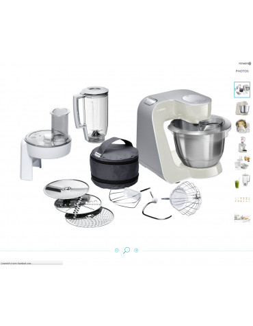 bosch Robot multifonctions 3.9l 1000w gris/inox bosch