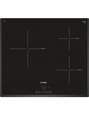 bosch Table de cuisson à induction 60cm 3 feux 4600w noir bosch