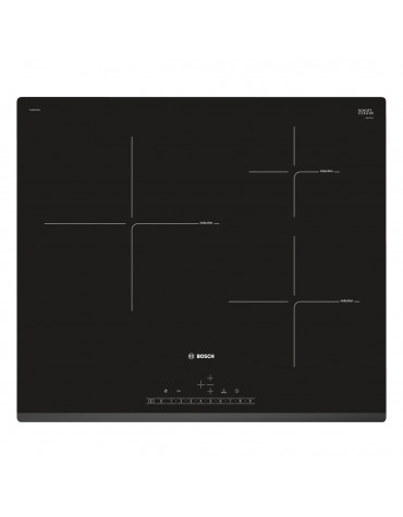 bosch Table de cuisson à induction 60cm 3 feux 7400w noir bosch