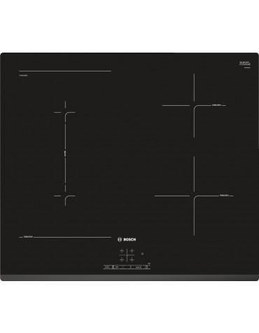 bosch Table de cuisson à induction 60cm 4 feux 6900w noir bosch