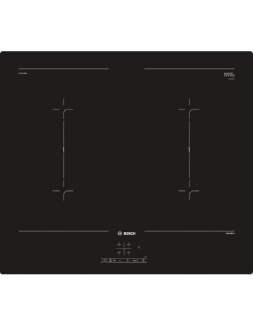 bosch Table de cuisson à induction 60cm 4 foyers 7400w noir bosch