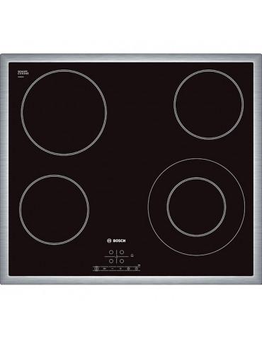 bosch Table de cuisson vitrocéramique 4 feux 6600w noir bosch