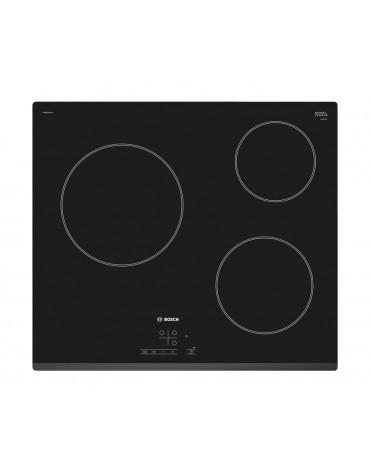 bosch Table de cuisson vitrocéramique 60cm 3 feux 5700w noir bosch