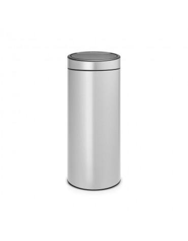 Poubelle 30l metallic grey