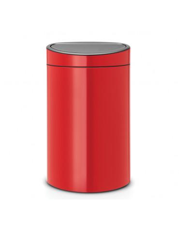 Poubelle 40l rouge