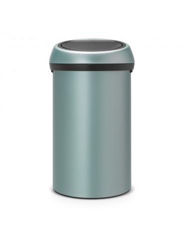 Poubelle 60l metallic mint