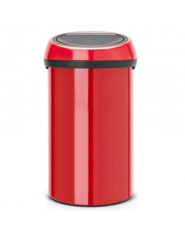 Poubelle de cuisine 60l rouge