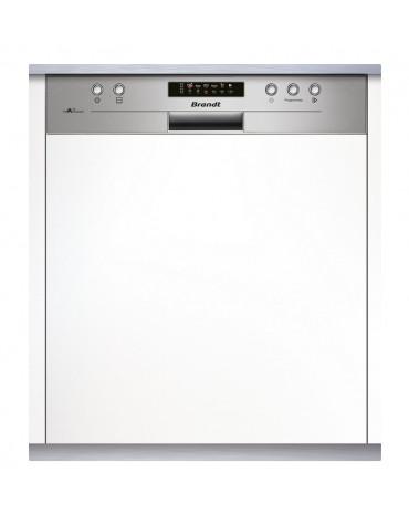 brandt Lave-vaisselle 60cm 14c 44db a++ intégrable avec bandeau inox brandt