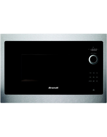 brandt Micro-ondes encastrable 26l 900w inox brandt