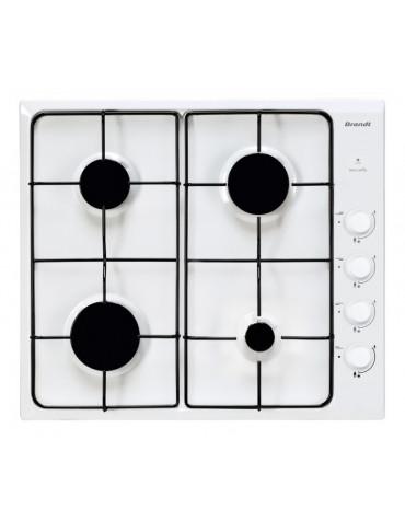 Table de cuisson à gaz 60cm 4 feux blanc