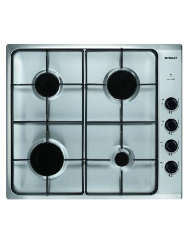 brandt Table de cuisson à gaz 60cm 4 feux inox brandt