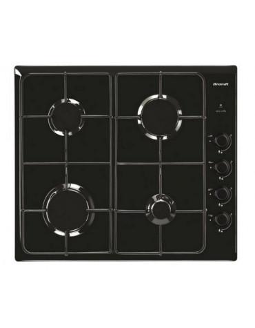 brandt Table de cuisson à gaz 60cm 4 feux noir brandt