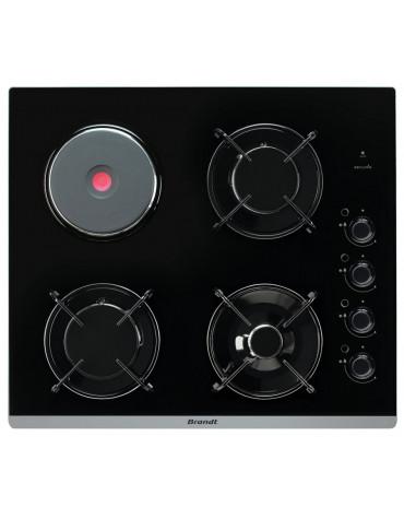 brandt Table de cuisson mixte 51cm 4 feux noir brandt