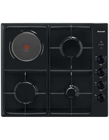 brandt Table de cuisson mixte 58cm 4 feux noir brandt