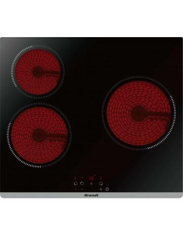 brandt Table de cuisson vitrocéramique 60cm 3 feux 5300w noir brandt