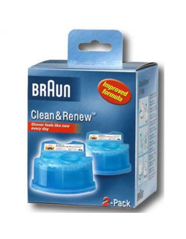 braun 2 cartouches de nettoyage clean & renew braun