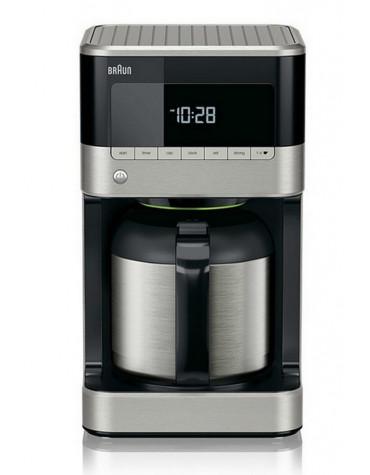 Cafetière filtre isotherme et programmable 10 tasses 1000w noir/inox