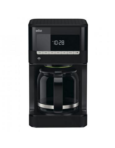 Cafetière filtre programmable 12 tasses 1000w noir