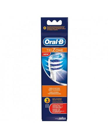 braun Lot de 3 brossettes pour brosse à dent trizone braun