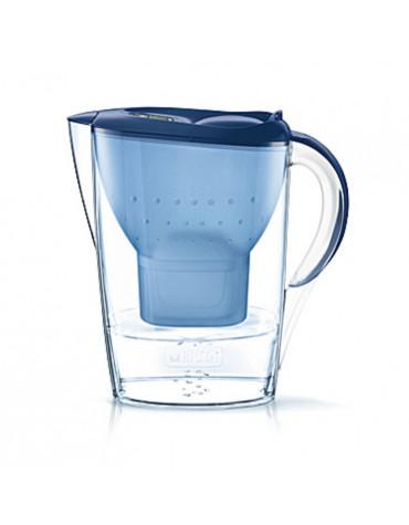 Carafe filtrante 2.4l bleue avec 4 cartouches maxtra+