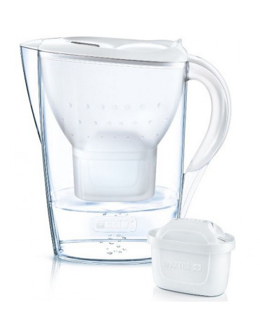 Carafe filtrante 2,4l blanche maxtra+