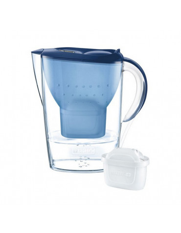 Carafe filtrante 2,4l bleu + 1 cartouche maxtra+