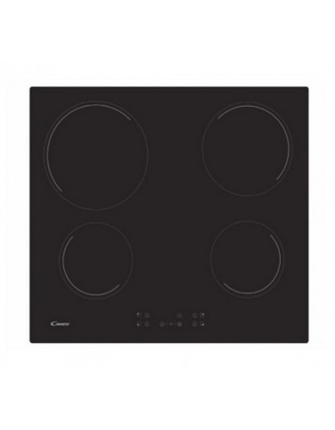 candy Table de cuisson vitrocéramique 4 feux 6500w noir candy