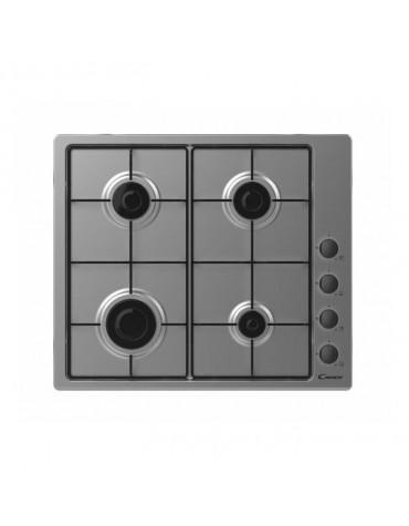 candy table de cuisson à gaz 59.5cm 4 feux noir chw6lbx