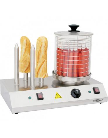 Appareil à hot-dog électrique 4 plots 960w