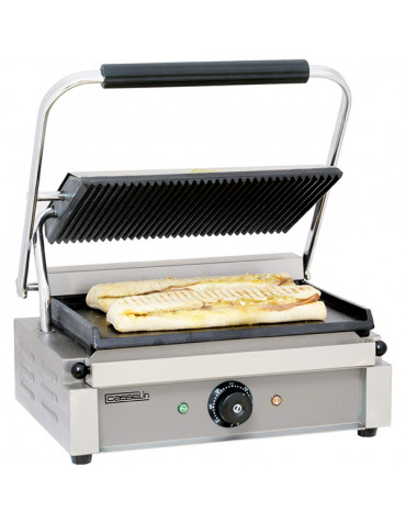 casselin Grill panini plaques rainurée/lisse 2200w casselin