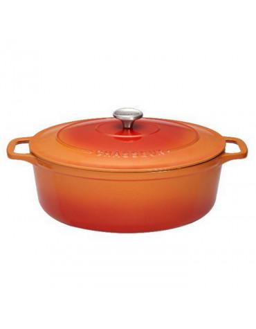 Cocotte ovale en fonte émaillée 17cm orange sublime