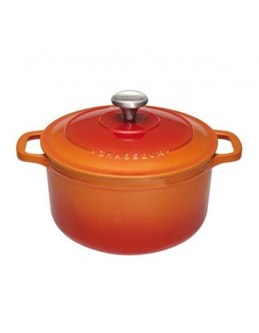 Cocotte ronde en fonte émaillée 16cm orange