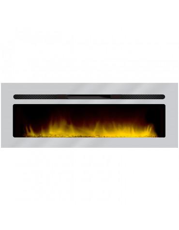 chemin'arte cheminée électrique encastrable 150cm inox 149