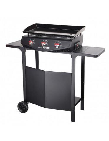cooking box Plancha gaz 7500w plaque acier email 65.7x34cm avec chariot cooking box